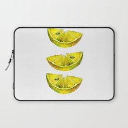 Lemon Slices White Laptop Sleeve
