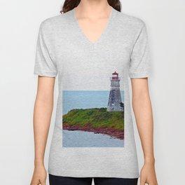 Lighthouse Cape Jourimain N-B Unisex V-Neck