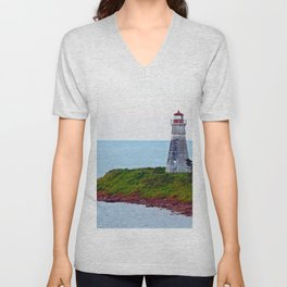 Lighthouse Cape Jourimain N-B Unisex V-Neck