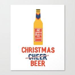 CHRISTMAS BEER Canvas Print