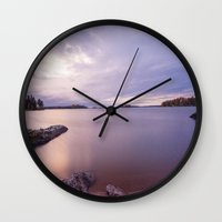 sweden Wall Clocks featuring Kvicksund, Sweden by Robin Öijer Photography