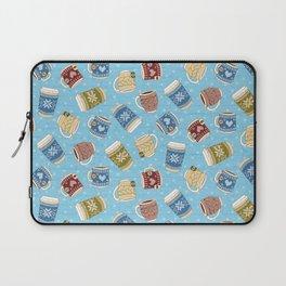 Cozy Mugs - Bg Blue Wood Laptop Sleeve