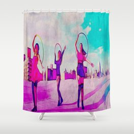 NYC Rooftop Shower Curtain