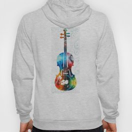 Colorful Violin Art by Sharon Cummings Hoody