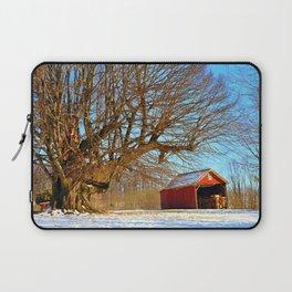 Snow Yard, Yashica C, Ektar 100, Film, Medium Format Laptop Sleeve