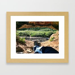 Kicked Back Framed Art Print