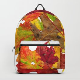 Autumn Fall Leaves Foliage Art Backpack