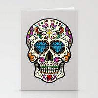 mexican Stationery Cards featuring Mexican Skull by Pancho the Macho