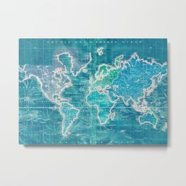 The World - Sans Type Metal Print