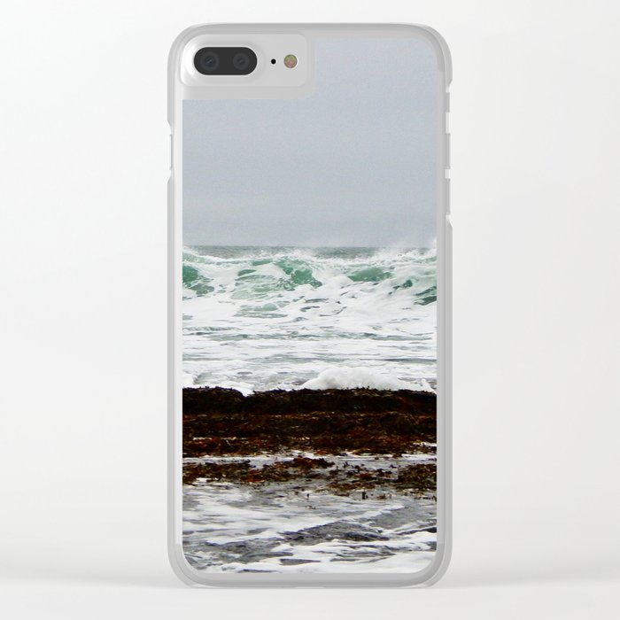 Green Wave Breaking Clear iPhone Case