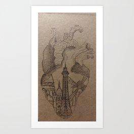 Cœur Parisien Art Print