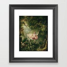 Jean-Honore Fragonard - The swing Framed Art Print