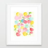 cherry blossom Framed Art Prints featuring cherry blossom by zeze