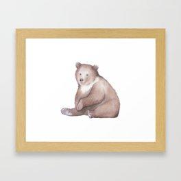 Bear Watercolor Framed Art Print