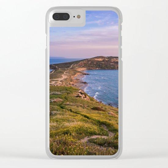 Landscape ocean 5 Clear iPhone Case