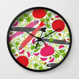 PASTA CON MOLLICA DI PANE Wall Clock