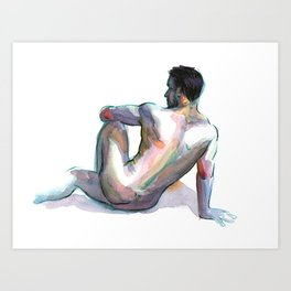 BRYAN, Nude Male by Frank-Joseph Art Print