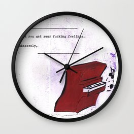 F you and your Fing Feelings Wall Clock