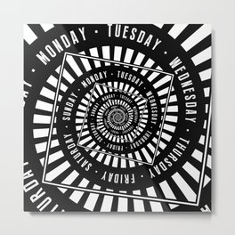 Days of The Week Metal Print