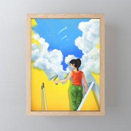 She's a good painter Framed Mini Art Print