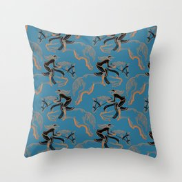 Gold Horse II Throw Pillow