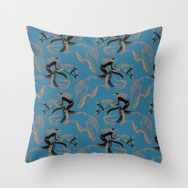 Gold Horse II Throw Pillow
