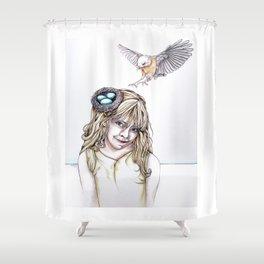 Her Nest Shower Curtain