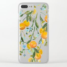 A Bit of Spring and Sushine Trailing Oranges Clear iPhone Case