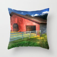 Barn in Valle Crucis, NC Throw Pillow
