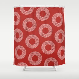 Big Red Dot Polka Dots Shower Curtain