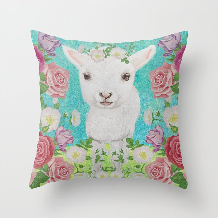 Baby Sheep Throw Pillow