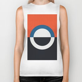 Blue and red composition XXIV Biker Tank