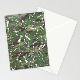 Grim Ripper Skater Camo WOODLAND GREEN Stationery Cards