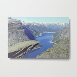 Trolltunga, stunning Norway - Travel Photography Metal Print