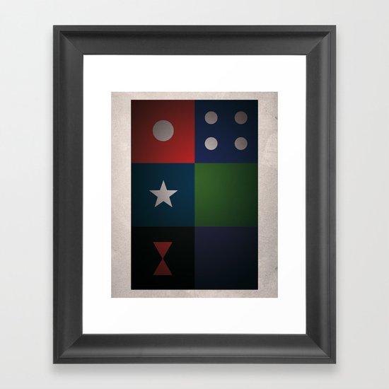 SMOOTH MINIMALISM - Avengers Framed Art Print