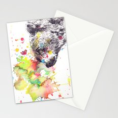 Portrait Of a Grizzly Brown Bear Stationery Cards