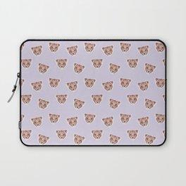Lion Light Purple Pattern, Safari Baby Animals, Cute Nursery Animals Baby Room Decor Laptop Sleeve