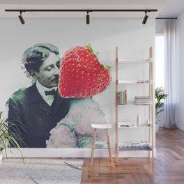 Strawberry love Wall Mural
