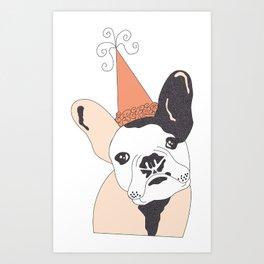 FrenchBulldogBday Art Print