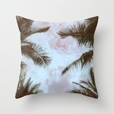 Vintage Palms Throw Pillow