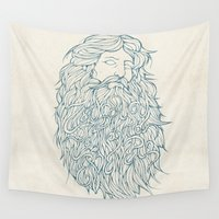 parks and recreation Wall Tapestries featuring Zeus by Mike Koubou