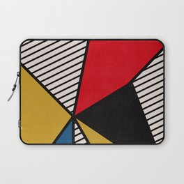 Primary Colors and Stripes Laptop Sleeve