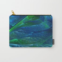 Sea Glass 3D Flame Fractal Carry-All Pouch