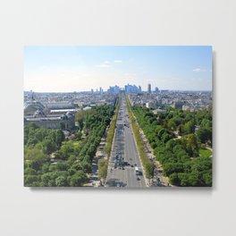 Avenue des Champs-Élysées Metal Print