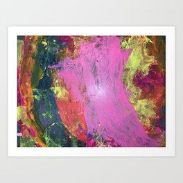 Neon Embers Art Print