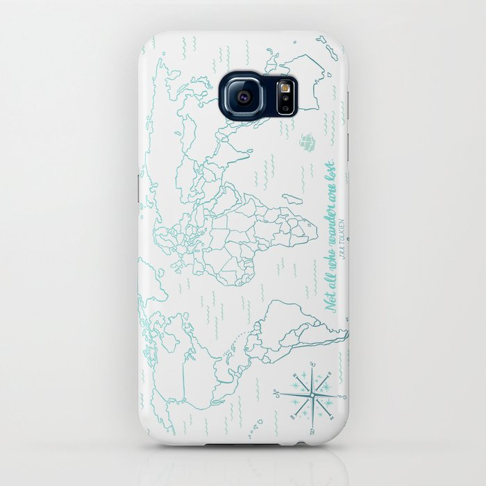 Where We've Been, World, Icy Blue iPhone Case