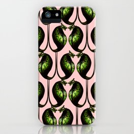 she's a maneater pink iPhone Case