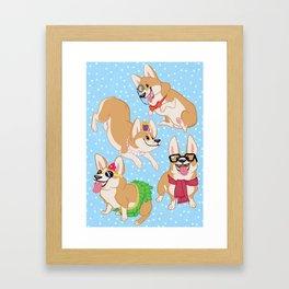 For the Love of Corgis Framed Art Print