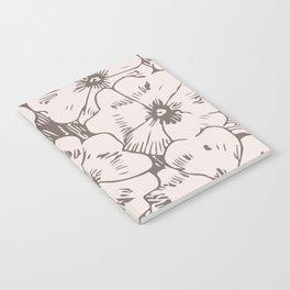 Sketched Pink Floral Notebook