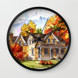 October on the Farm Wall Clock